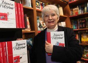L'autrice di libri per ragazzi Bianca Pitzorno 20 Marzo 2012 a Bologna, presso la libreria Ambasciatori per la presentazione del nuovo libro. ANSA - MICHELE NUCCI